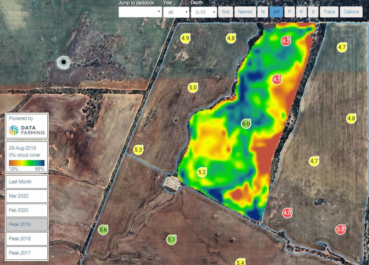 DataFarming NDVI images are now available to Summit Fertilizers clients in Western Australia | Datafarming